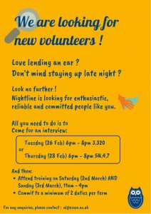 We are looking for new volunteers!